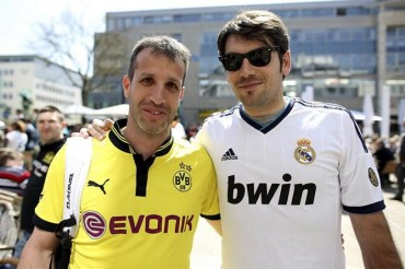 Los aficionados del Borussia 'toman' Madrid