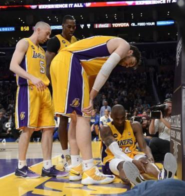 NBA: Lesión de Kobe y triple doble de Gasol