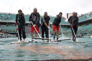 La lluvia retrasó la tercera jornada de Roland Garros