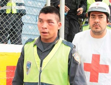 Saúl Bueso Mazariegos confirma el robo del arma a policía agredido