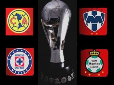 América, Cruz Azul, Santos y Monterrey pelearán por llegar a la Final