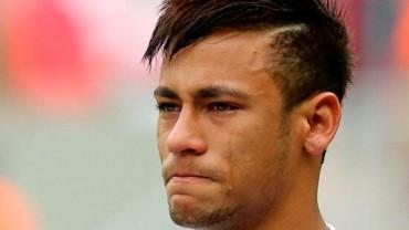 Neymar no pudo evitar el llanto en su despedida
