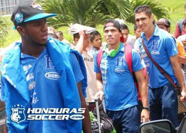 Llegada de la Selección Nacional a Tegucigalpa