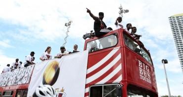 Celebración por todo lo alto de los Heat de Miami