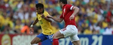 Brasil e Inglaterra empatan