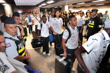 Selección de Honduras arribó a la ciudad de San José California
