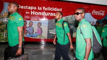 Los jugadores de Jamaica ya estan en Tegucigalapa