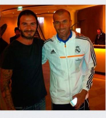 Beckham y Zidane posaron juntos en Los Ángeles