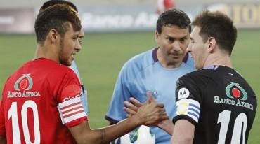 El equipo liderado por el Messi derrotó 8-5 al capitaneado por Neymar