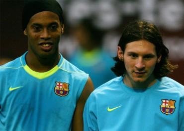 "Messi: ""Aprendí mucho de Ronaldinho"""