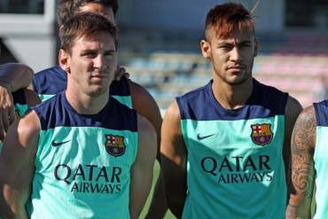 Messi y Neymar ya comparten terreno de juego en Barcelona