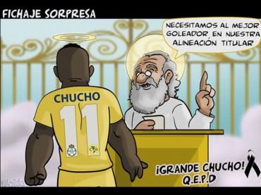 """Con caricaturas dan el adiós a """"Chucho"""" Benítez"""