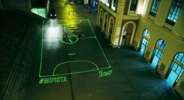 Nike y su  cancha de fútbol hecha con láser