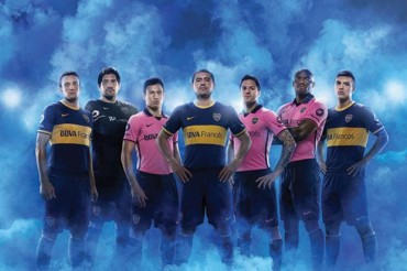 Boca tiene nueva camiseta: como suplente, un modelo rosa