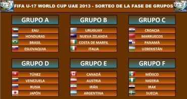 La Bicolor Sub-17 ya conoci sus rivales del Mundial de Emiratos Árabes