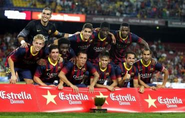 El Barça humilla al Santos (8-0) y Neymar debuta en el Camp Nou junto a Messi