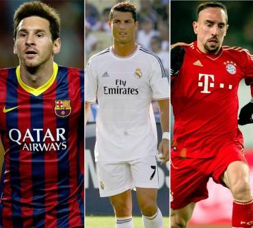 Messi, Ribéry y Cristiano, finalistas para el Premio al Mejor Jugador de la UEFA
