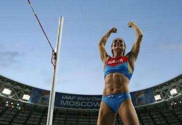 Yelena Isinbayeva, tercer oro mundial y apunta a Río 2016