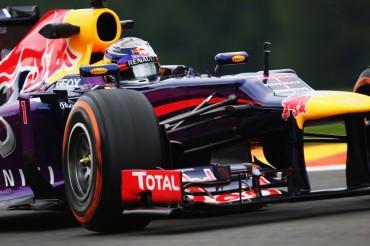 Sebastian Vettel asusta en Spa