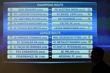 Milan, Arsenal y Schalke en la última ronda previa de la Liga de Campeones