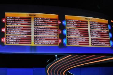 Grupo definidos en la Europa League