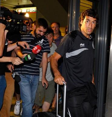 """Raúl ya está en Madrid: """"Estoy muy contento de volver"""""""