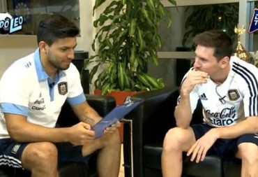 "Video: ""El Kun Agüero entrevista a Leo Messi"""