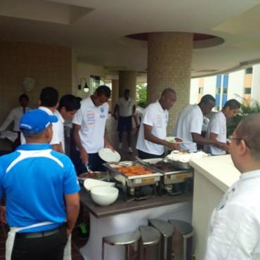 La Selección almuerza para luego entrenar en el Estadio Nacional