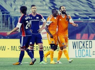Houston Dynamo empató como visitante 1-1 ante el New Englad Revolution