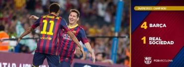 El Barcelona volvió a mostrar todas sus armas ante la Real Sociedad