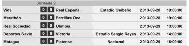 Jornada 9 de la Liga Nacional de Honduras