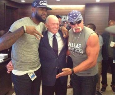 LeBron, invitado de los Cowboys junto a Hulk Hogan