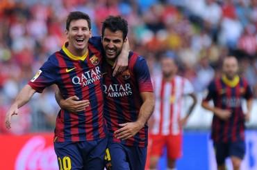 Victoria del Barça en Almería y récord