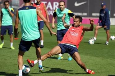 El Barça hace su último entrenamiento y se concentra en Sevilla