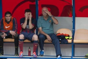 Messi tiene una lesión muscular en el bíceps femoral