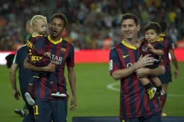 Davi Lucca y Thiago Messi debutan juntos en el Camp Nou