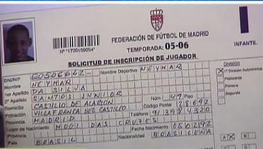 Neymar llegó a tener ficha con el Real Madrid en el año 2006