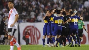 Boca celebró la victoria en el 'Superclásico' ante River Plate