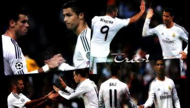 Un tridente arrollador CR7, Benzema y Bale