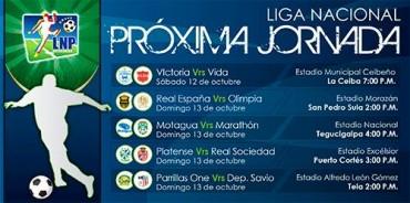 Jornada #12 de la Liga Nacional de Honduras