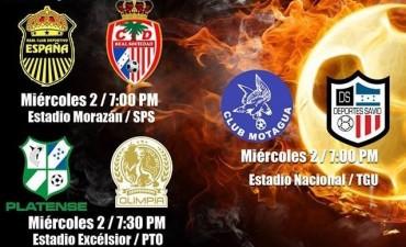 Jornada #10 de la Liga Nacional de Honduras el día de hoy