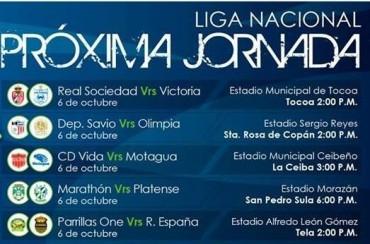 La jornada #11 de la Liga Nacional de Honduras