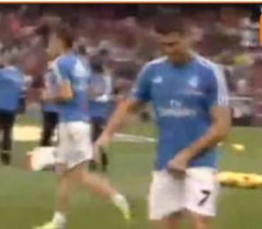 Cristiano Ronaldo dedicó un gesto obsceno al público del Camp Nou
