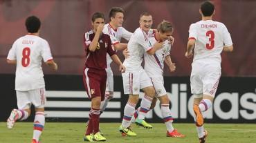 Rusia goleó 4-0 a Venezuela y se despide del Mundial Sub-17