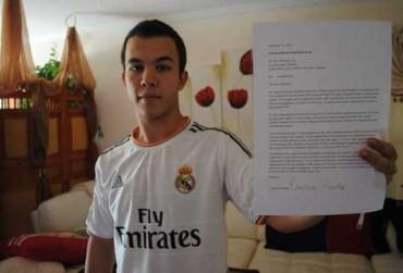 La carta que escribió Cristiano para ayudar al aficionado de Miami