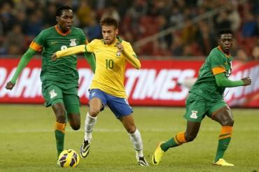 Brasil se impone a Zambia con Neymar de líder