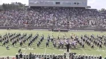 Video:Banda de guerra de la Universidad de Ohio sorprendió con un show