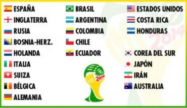 Los 21 clasificados para Brasil