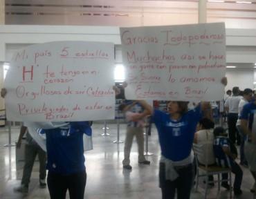 """VIDEO: """"Los seleccionados fueron recibidos como héroes en San Pedro Sula"""""""
