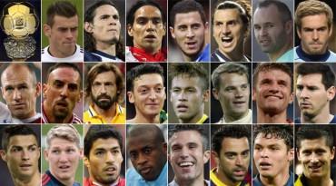 Ya se conocen los 23 nominados al Balón de Oro 2013